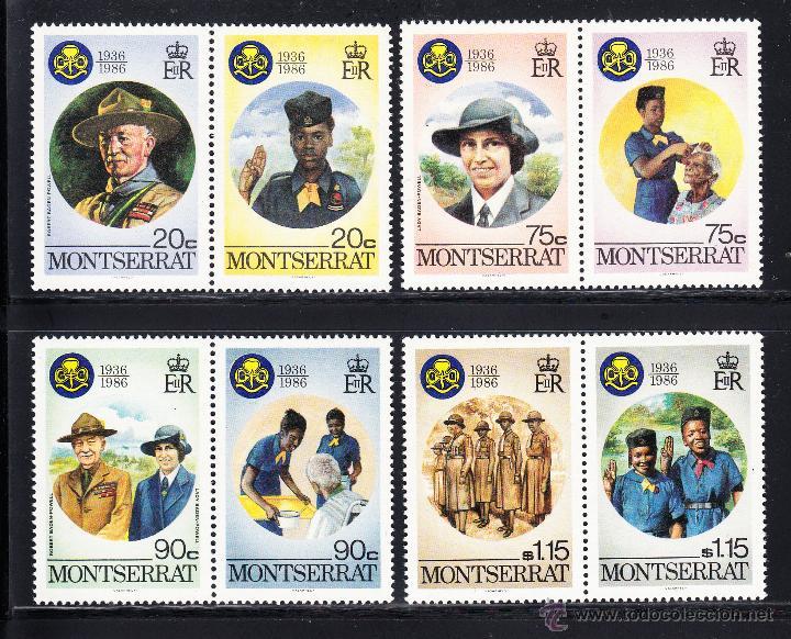 MONTSERRAT 600/07** - AÑO 1986 - 50º ANIVERSARIO DEL MOVIMIENTO SCOUT FEMENINO (Sellos - Temáticas - Boy Scout)