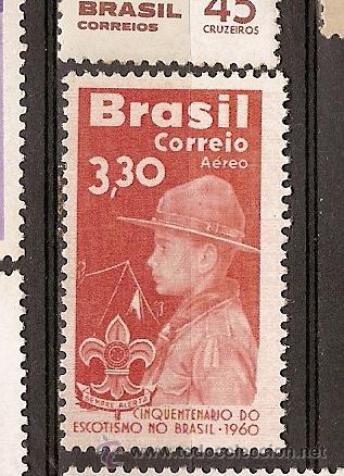BRASIL * & AEREO, 50 ANOS DE ESCOTISMO NO BRASIL 1960 (90) (Sellos - Temáticas - Boy Scout)