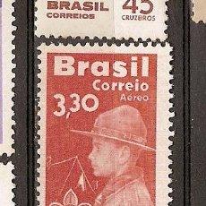Sellos: BRASIL * & AEREO, 50 ANOS DE ESCOTISMO NO BRASIL 1960 (90). Lote 53885316
