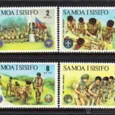 Sellos: SAMOA 319/22** - AÑO 1973 - MOVIMIENTO SCOUT. Lote 54360792