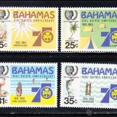 Stamps - BAHAMAS 567/70** - AÑO 1985 - 75º ANIVERSARIO SCOUT FEMENINO - AÑO INTERNACIONAL DE LA JUVENTUD - 54555241