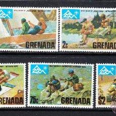 Sellos: GRANADA 604/10** - AÑO 1975 - JAMBOREE MUNDIAL SCOUT DE NORUEGA. Lote 54890934