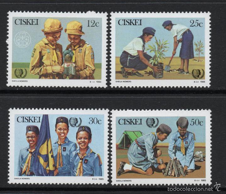 CISKEI 75/78** - AÑO 1985 - 75º ANIVERSARIO DEL MOVIMIENTO SCOUT FEMENINO (Sellos - Temáticas - Boy Scout)