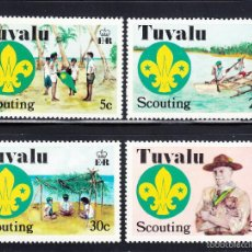 Sellos: TUVALU 51/54** - AÑO 1977 - SCOUT - 50º ANIVERSARIO DEL MOVIMIENTO SCOUT DEL PACÍFICO CENTRAL. Lote 55815690