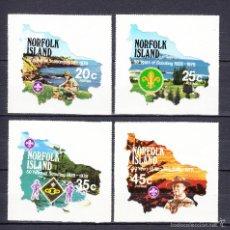 Sellos: NORFOLK 210/13** - AÑO 1978 - 50º ANIVERSARIO DEL MOVIMIENTO SCOUT. Lote 56930422