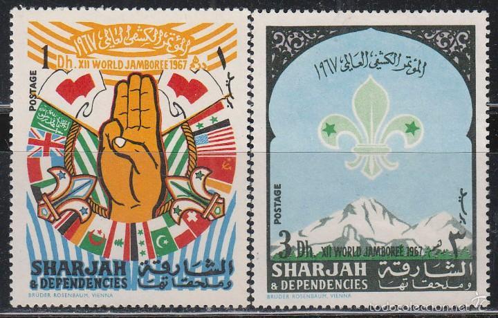 SHARJAH, BOY SCOUT, JAMBOREE 1967 EN IDAHO, ESTADOS UNIDOS, NUEVO (Sellos - Temáticas - Boy Scout)