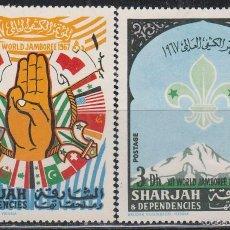 Sellos: SHARJAH, BOY SCOUT, JAMBOREE 1967 EN IDAHO, ESTADOS UNIDOS, NUEVO . Lote 57084345
