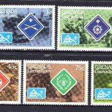 Sellos: GRANADA GRANADINAS 82/88** - AÑO 1975 - SCOUT - JAMBOREE MUNDIAL, NORUEGA 1975. Lote 59195100