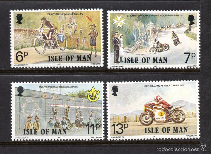 MAN 90/93** - AÑO 1977 - ANIVERSARIOS - SCOUT - MEDICINA AMBULANCIAS - MOTOCICLISMO (Sellos - Temáticas - Boy Scout)