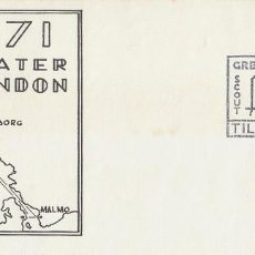 Sellos: INGLATERRA, CRUCERO SCOUT LONDRES-GOTEBORG-MALMOE-OSLO-LONDRES, 24-7-1971. Lote 109448060