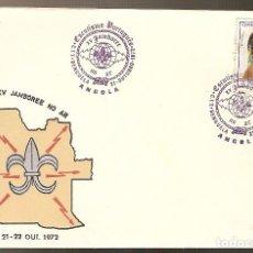 Sellos: PORTUGAL & FDC ANGOLA ULTRAMAR, XV JAMBOREE NA RÁDIO, ESCUTISMO PORTUGUÊS, BENGUELA 1972 (2) . Lote 74226599
