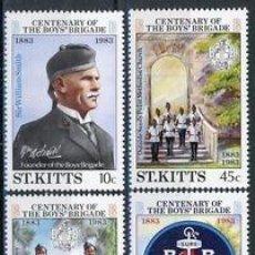 Sellos: SAN KITTS 1983 IVERT 531/4 *** CENTENARIO DE LA BOYS BRIGADA DE SAN KITTS - SCOUTS. Lote 75328927