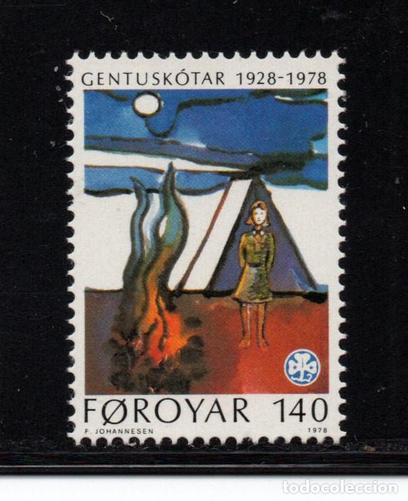 FEROE 35** - AÑO 1978 - 50º ANIVERSARIO DEL MOVIMIENTO SCOUT FEMENINO (Sellos - Temáticas - Boy Scout)