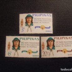 Sellos: FILIPINAS Nº YVERT 643/5*** AÑO 1966. 25 ANIVERSARIO SCOUTISMO FEMENINO. Lote 78677585