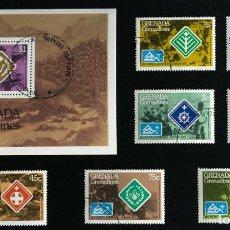 Sellos: SELLOS TEMÁTICA BOY SCOUTS GRENADA, GRENADINES 14TH WORLD JAMBOREE, NORWAY 1975. Lote 90645860