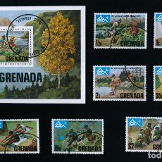 Sellos: SELLOS TEMÁTICA BOY SCOUTS GRENADA, GRENADINES 14TH WORLD JAMBOREE, NORWAY 1975. Lote 90647760