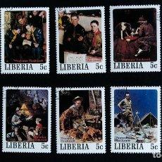 Sellos: SELLOS TEMÁTICA BOY SCOUTS LIBERIA SET COMPLETO DE NORMAN ROCKWELL 1979 . Lote 90686255