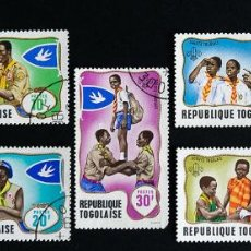 Sellos: 7 SELLOS TEMÁTICA BOY SCOUTS REPUBLIQUE TOGOLAISE 1968. Lote 90713320