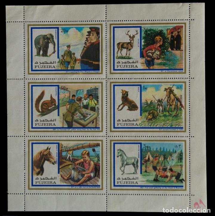 SELLOS TEMÁTICA BOY SCOUTS LIBERIA JAMBOREE 1971 HOJA DE 6 SELLOS (Sellos - Temáticas - Boy Scout)