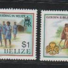 Sellos: BELIZE GOLDEN JUBILEE BOY SCOUT MNH SET COMPLETO . Lote 95410779