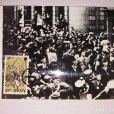 Sellos: R.W. BERTRAM - POSTAL CON SELLO DE LOS SCOUTS. Lote 101549671