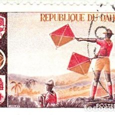 Sellos: 1966 - DAHOMEY - FOLKLORE - SCOUTISMO - SEÑALIZACION - YVERT 242. Lote 106986411