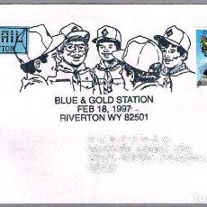 Sellos: MATASELLOS BLUE & GOLD STATION - SCOUTS. RIVERTON WY, ESTADOS UNIDOS, 1997. Lote 107519891