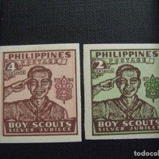 Sellos: FILIPINAS Nº YVERT 351B / 2B***AÑO 1949. 25 ANIVERSARIO DE LOS SCOUTS. Lote 210698456