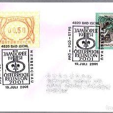 Sellos: MATASELLOS 50 AÑOS JAMBOREE 1951 - REUNION SCOUTS DE AUSTRIA. BAD ISCHL 2001. Lote 109085743