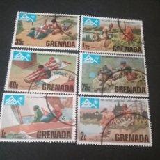 Sellos: SELLOS DE GRENADA (GRANADA) MTDOS. 1975. VELERO. DEPORTE. JUEGOS. PAISAJES. LAGO.. Lote 112039964
