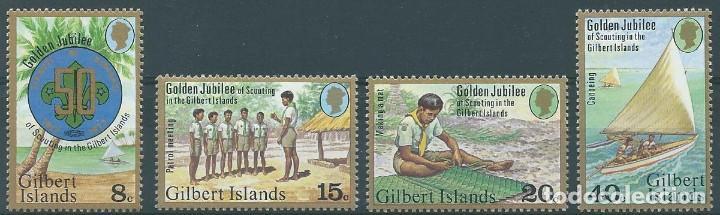 AÑO 1977. GILBERT ISLANDS. YT 52/55 MINT. 50 AÑOS DE SCOUTISMO. (Sellos - Temáticas - Boy Scout)