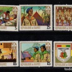 Sellos: GUINEA 386/91** - AÑO 1969 - MOVIMIENTO SCOUTS. Lote 126266423
