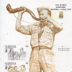 Sellos: ST. VINCENT & THE GRENADINES - 19 JAMBOREE MUNDIAL - CHILE 1998. Lote 129222019