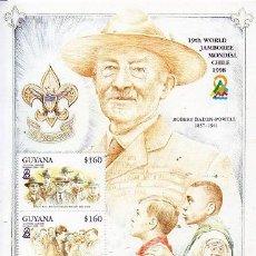 Sellos: GUYANA - 19 JAMBOREE MUNDIAL - CHILE 1998. Lote 129222487