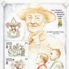 Sellos: NEVIS - 19 JAMBOREE MUNDIAL - CHILE 1998. Lote 129222859