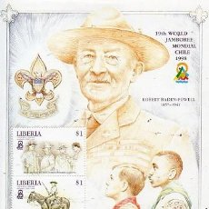 Sellos: LIBERIA - 19 JAMBOREE MUNDIAL - CHILE 1998. Lote 129223679