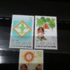 Sellos: SELLOS R. SURINAM (SURINAME) NUEVOS. 1974. SCOUT. ARBOL. NATURALEZA. EMBLEMA.. Lote 131462638