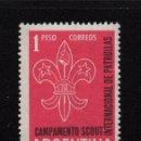 Sellos: ARGENTINA 633** - AÑO 1961 - SCOUT - JAMBOREE INTERNACIONAL. Lote 136044306