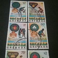 Sellos: SELLOS GRENADA (GRANADA) MTDOS/1976/MUJERES/NIÑAS/CURZ ROJA/FLORES/TIENDA/EMBLEMAS/ENFERMOS/BOY SCOU. Lote 137363200