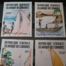 Sellos: SELLOS U. COMORAS (R.F.I. COMORES) NUEVOS/1982/75 ANIV. MOVIMIENTO BOY SCOUTS/BARCA/VELERO/PAISAJES. Lote 137784061