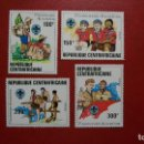 Sellos: REPUBLICA CENTROAFRICANA-1982-Y&T 491/4**(MNH)-BOY SCOUTS. Lote 137846810
