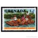 Sellos: GRANADA 1977. MI 843, YT 749. JAMAICA, SCOUT JAMBOREE. USADO. Lote 142077866