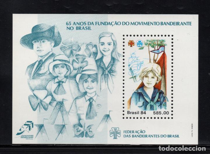 BRASIL HB 65** - AÑO 1984 - 65º ANIVERSARIO DEL MOVIMIENTO SCOUT FEMENINO EN BRASIL (Sellos - Temáticas - Boy Scout)