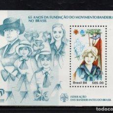 Sellos: BRASIL HB 65** - AÑO 1984 - 65º ANIVERSARIO DEL MOVIMIENTO SCOUT FEMENINO EN BRASIL. Lote 142704326