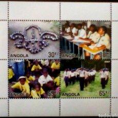 Sellos: BOYS SCOUTS HOJA BLOQUE DE SELLOS NUEVOS DE ANGOLA. Lote 144494556