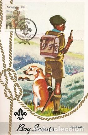 TRANSKEI & MAXI, 75 ANIVERSARIO. BOY SCOUTS, UMTATA 1982 (106) (Sellos - Temáticas - Boy Scout)