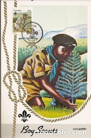 TRANSKEI & MAXI, 75 ANIVERSARIO. BOY SCOUTS, UMTATA 1982 (104) (Sellos - Temáticas - Boy Scout)