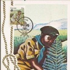 Sellos: TRANSKEI & MAXI, 75 ANIVERSARIO. BOY SCOUTS, UMTATA 1982 (104). Lote 145613302
