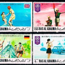Stamps - Emiratos Arabes, Ras Al Khaima 556/9, World Scout Jamboree en Japon, usado - 146538730