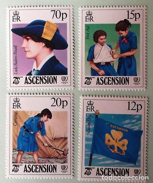 ASCENSIÓN. 382/85 AÑO INTERNACIONAL DE LA JUVENTUD Y 75 ANIVERSARIO MOVIMIENTO SCOUT FEMENINO. 1985. (Sellos - Temáticas - Boy Scout)